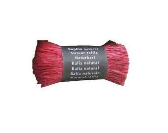 Natural raffia 50 Gr red - Maildor - Ref 196006C - until the stock!