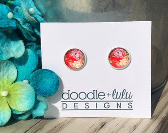 Rosy Red Studs