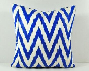 Ikat Pillow, Hand Woven Ikat Pillow Cover npi556, Ikat throw pillows, Designer pillows, Decorative pillows, Accent pillows