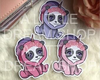 Iris-Panda Die Cuts Unicorn Hoodie