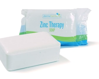 DermaHarmony 2% Pyrithione Zinc (ZnP) Bar Soap 4 oz - Crafted for Those with Skin Conditions - Seborrheic Dermatitis, Dandruff, etc.