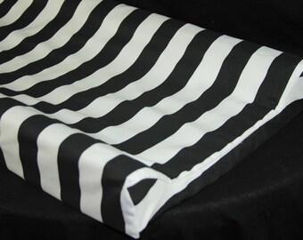 Standard Changing Pad Cover / IKEA Vadra Change Pad - Black & White Stripe