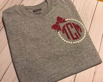 Baby boy or toddler boy chevron monogram initial personalized personalized monogram tee negle Images