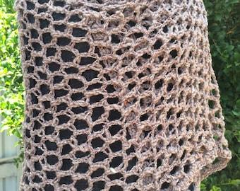 Crochet mesh scarf/shawl