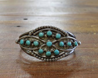 Vintage Turquoise Sterling Silver Cuff Bracelet