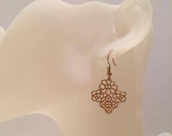 Gold lace earrings