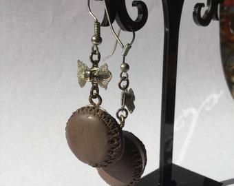 Earrings Silver earrings with macaroons