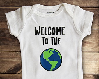 Welcome to the World bodysuit, Baby Shower Gift, New Baby Gift, Take Home Outfit, Coming Home Outfit