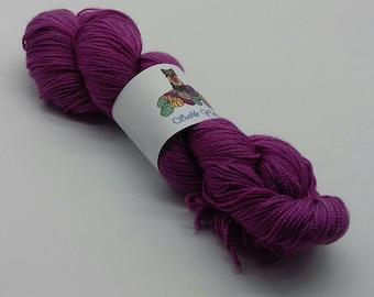 80/20 Superwash Merino/Silk high twist sock yarn: Amethyst