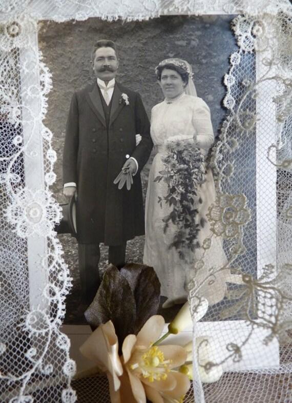 AUF Verkauf 1913 Brautkleid mit dem Foto der Braut paar