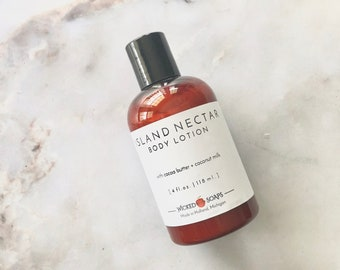ISLAND NECTAR Body Lotion | Cocoa Butter Lotion | Coconut Milk Body Lotion | Body Cream | Moisturizer | Vegan Lotion | Skincare
