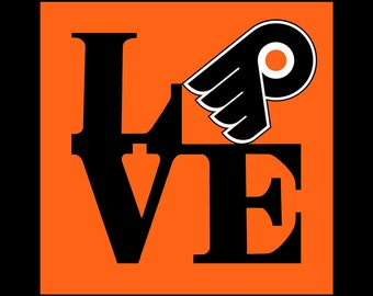 Love Flyers ( Philadelphia Team) 12 x12, Art on Canvas