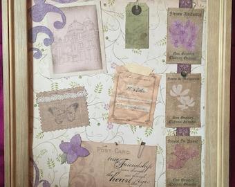 French garden purple collage