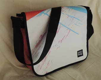 Medium Messenger bag, man bag, woman bag, recycled, Diaper bag, Crossbody bag,  3001009