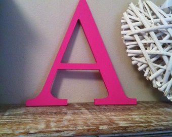 Decorative Wooden Wall Letter 'A' - Any Colour - Plain Finish - Roman Style - 10 inch approx