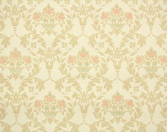 1930s Vintage Wallpaper by the Yard - Antique Victorian Style Damask