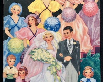 Wedding of the Paper Dolls - Designed by Lucille Webster -