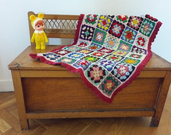 Small vintage crochet blanket