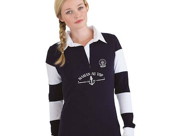 "MOM Christmas gift - Polo MOM to be personalized with your name - gift mother's day - MOM gift idea ""my mom is on top..."""