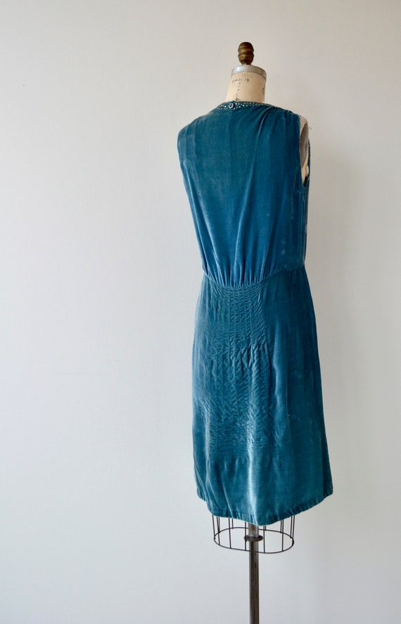 velvet dress Bonjour 1920s 20s dress Adieu silk dress vintage 77qFwY