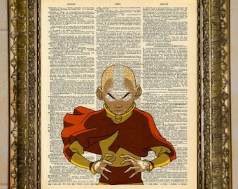Avatar: The Last Airbender Aang Dictionary Art