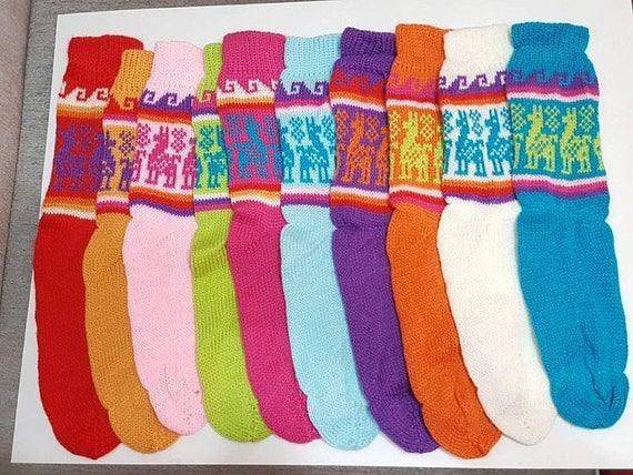 lot of 10 pairs of Peruvian alpaca socks pastel colors tYV0bM0Z55