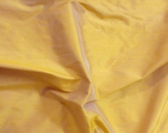 dupioni silk fabric - butterscotch 100% pure silk - fat quarter - sld066