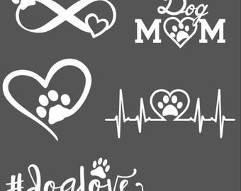 Dog Love Car Decal