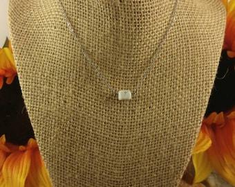 Minimalist stone/bead necklace