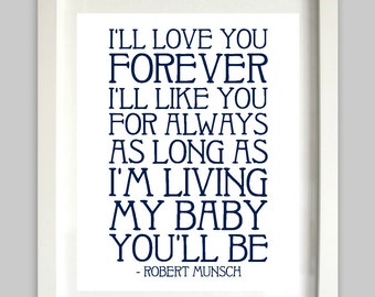 Iu0027ll Love You Forever Printable // My Baby Youu0027ll Be /