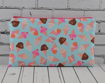 Ice Cream Novelty Pencil Case, Kawaii Make Up Bag. Girls Pencil Case, Kawaii Pencil Case
