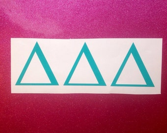 Sorority Greek Monogram Vinyl Decal Car Sticker Big Little Tri Delta Kappa Kappa Gamma Alpha Delta Pi Alpha Xi Delta Zeta Theta Tri Sigma
