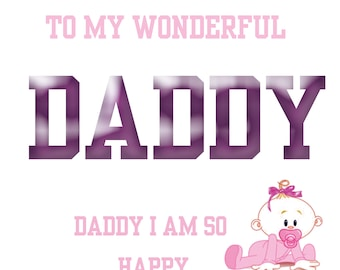 Daddy's 1st Fathers Day Card girl