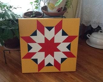 Barn quilt,painted quilt block,quilt pattern