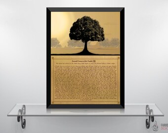 Prophetic Sermon - Islamic Wall Art and Arabic Calligraphy in English Typography | Islamic Decor and Art Prints | Digital Paintings