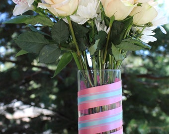 "7.5"" Cylinder Flower Vase - 2 Colors"