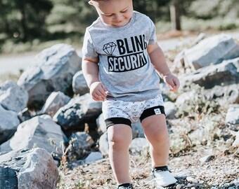 """Shine Bright"" Diamond Baby + Toddler Shorties"