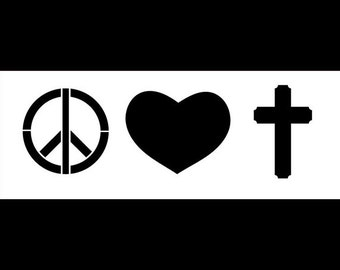 Peace, Love & Faith - Art Stencil - Select Size - STCL1170 by StudioR12