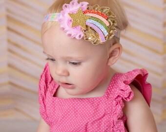 Rainbow baby -Rainbow baby headband - Rainbow baby hair bow - Rainbow  headband - Baby 1aa209b547e