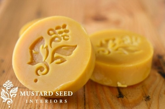 Beeswax Bar - Miss Mustard Mustard Seed, Wax Resist, Distressing Furniture, Faux Wood Painting, Furniture Wax for Layering