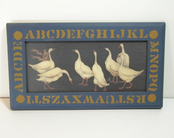 Goose Picture, Alphabet Frame Country Style Picture, Geese