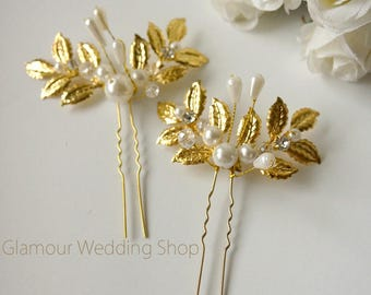 Sale - Gold Hair Pins Wedding Hair Pin Wedding hair clip Bridal Gold Hair Accessories