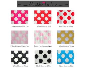 Polka Dot Tablecloth Linens - Many Sizes, Many Colors!