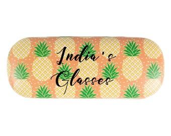 Pineapple glasses case, Customised glasses case, Pineapple gift, Glasses case hard, Gift for her, girlfriend gift,birthday gift