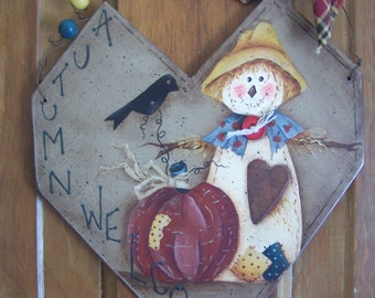 Autumn Welcome Wood Cut Out Plaque