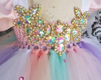 Rainbow Unicorn Dress/Unicorn Dress/Rainbow Dress/Pastel Rainbow Party/Unicorn Party/Unicorn Pony Dress/Pastel Unicorn Party/Baby Girl Dress