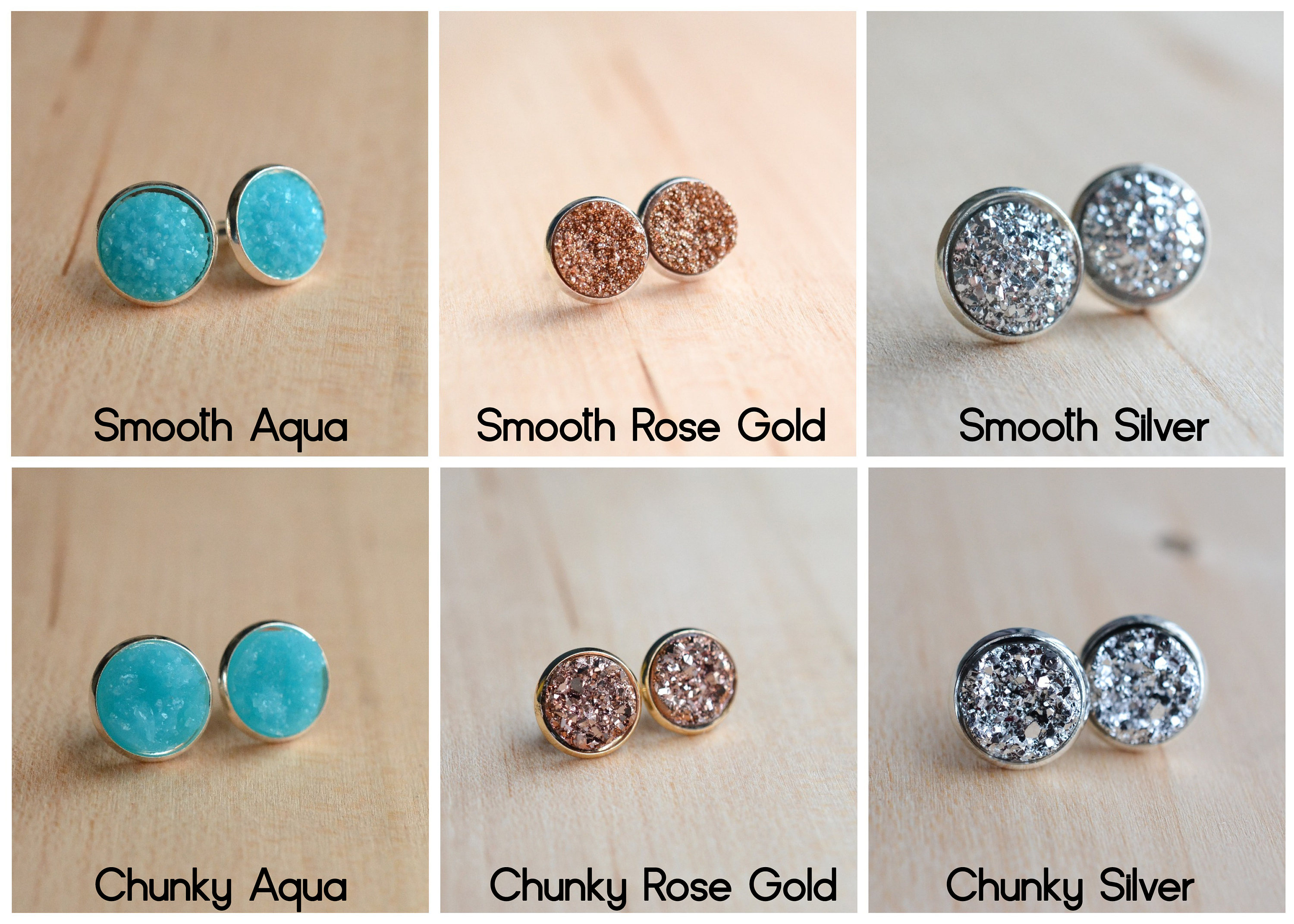 by pm chunky stud laser glitter star choose mikmat photo jewellery your products colour earrings cut designs