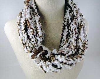 Crochet Pattern - Crochet Infinity Scarf Pattern #401 - Instant Download PDF