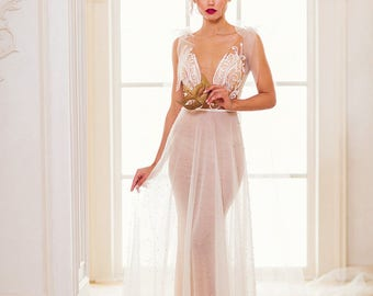 """New collection/ """"Eva"""" gown /Romantic Bridal desses/ Tulle pearls/  Wedding gown/bridal gown"""