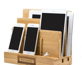 Personalise charging station organizer,Docking Stations,multiple charging station,Charging dock,family charging station,tablet stand